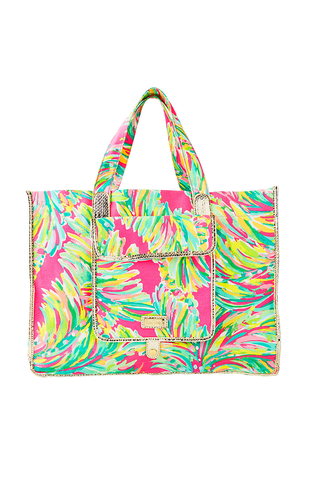 Lilly Pulitzer Sunbathers Foldable Beach Tote Bag