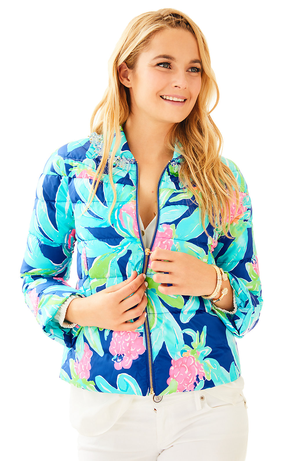 Lilly Pulitzer Carolena Puffer Jacket