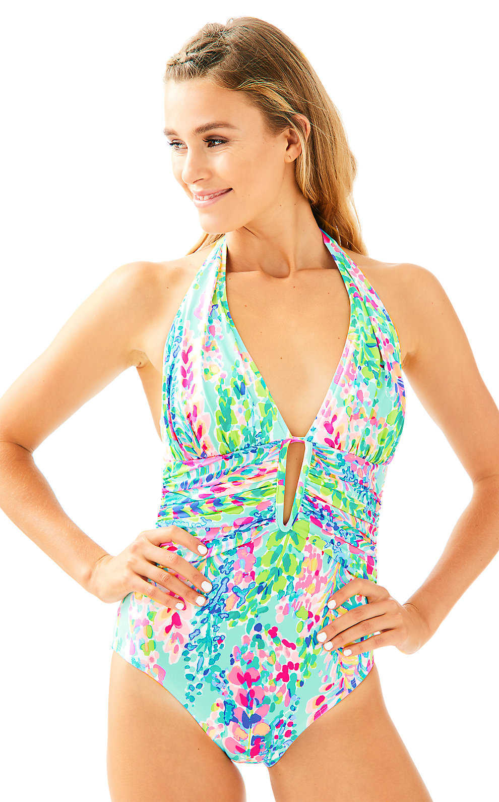 Lilly Pulitzer Lilly Pulitzer Lanai Halter One Piece Suit