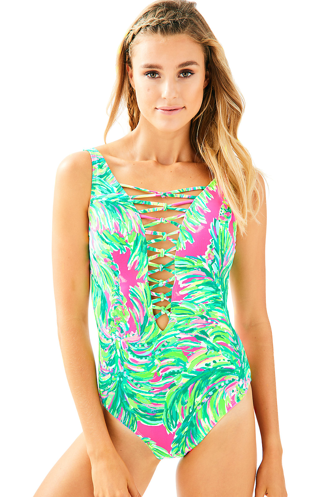 Lilly Pulitzer Lilly Pulitzer Isle Lattice One Piece Suit