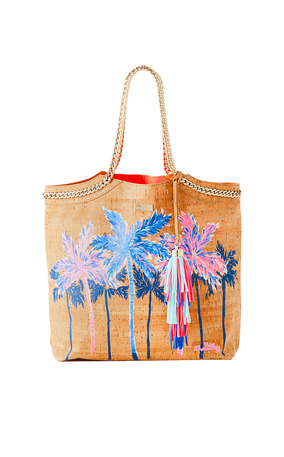 Lilly Pulitzer Printed Beach Comber Cork Tote