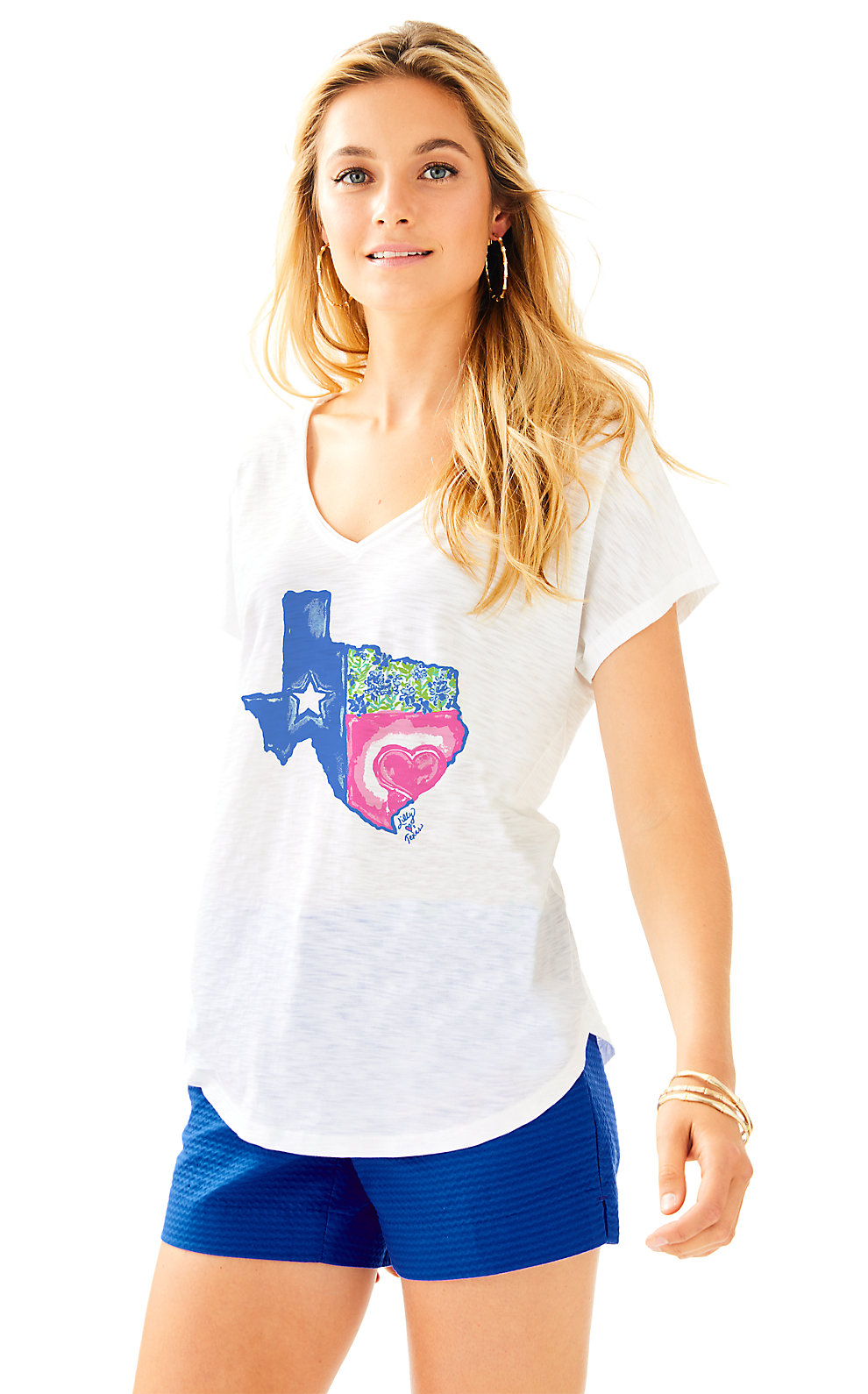 Lilly Pulitzer Lilly Loves Texas Colie Top