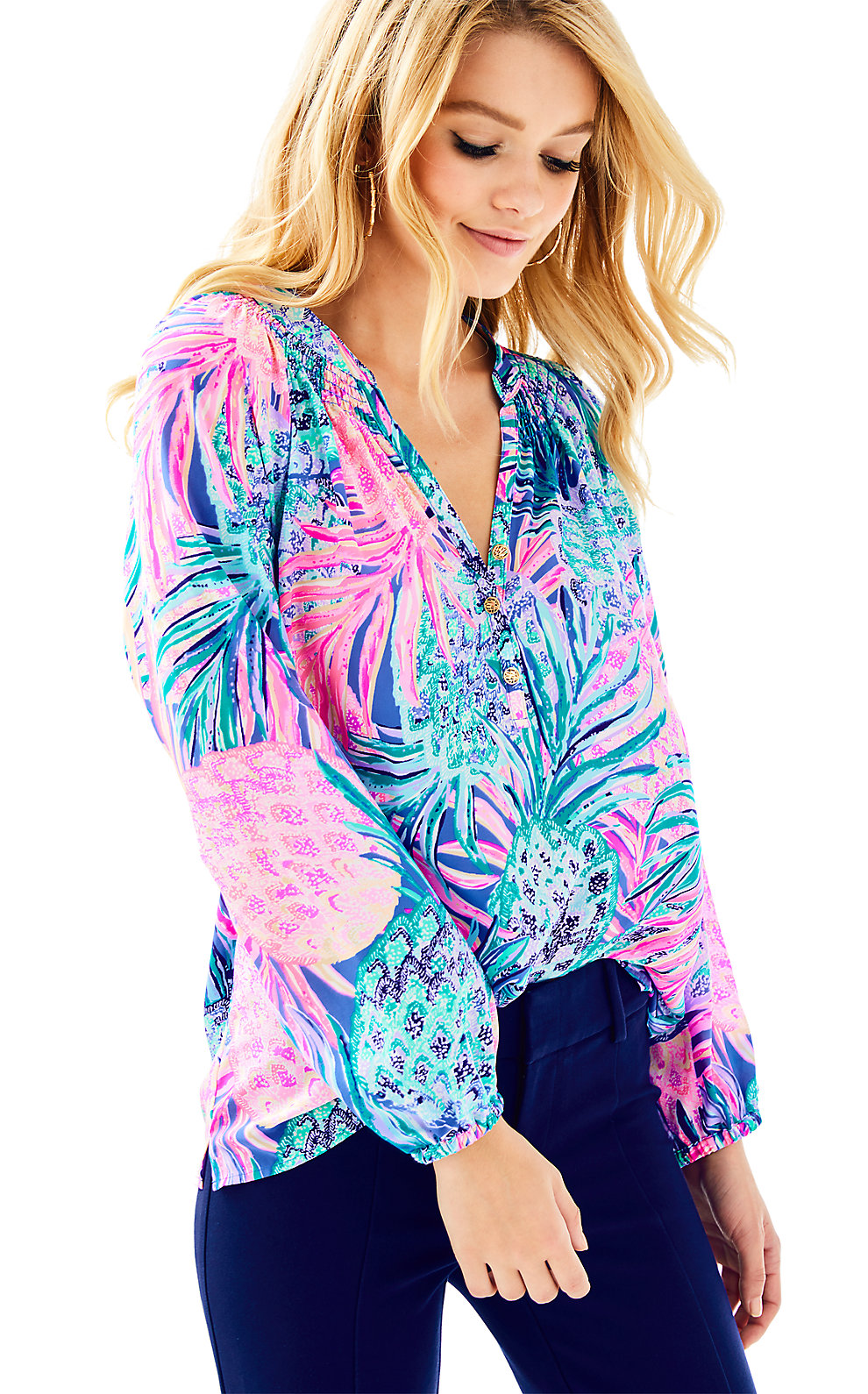 Lilly Pulitzer Elsa Silk Top - Gypset Paradise