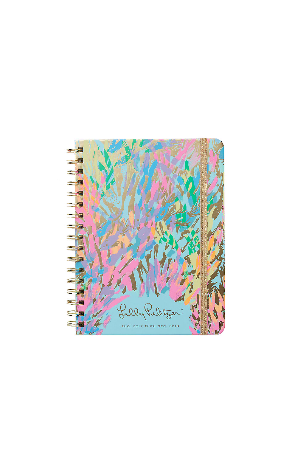 Lilly Pulitzer 2017-2018 Monthly Agenda - Sparkling Sands