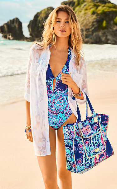 Lanai Halter One Piece Suit Look